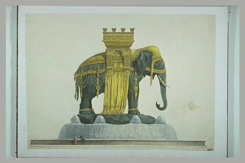 Projet de fontaine pour la place de la Bastille