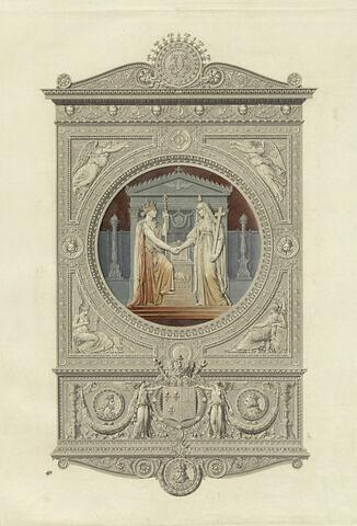 Frontispice pour l'album du Sacre de Charles X