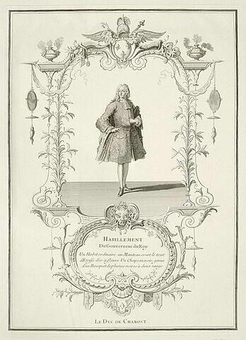 Habillement du Gouverneur du Roy. Le Duc de Charost