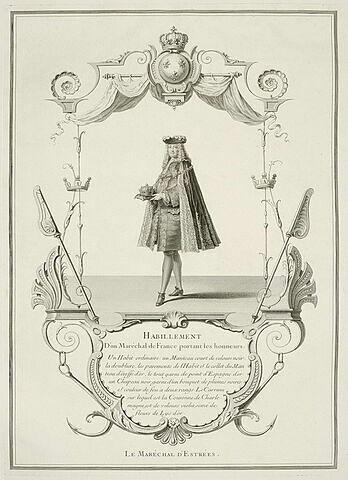 Habillement d'un maréchal de France portant les Honneurs. Le Maréchal (...)