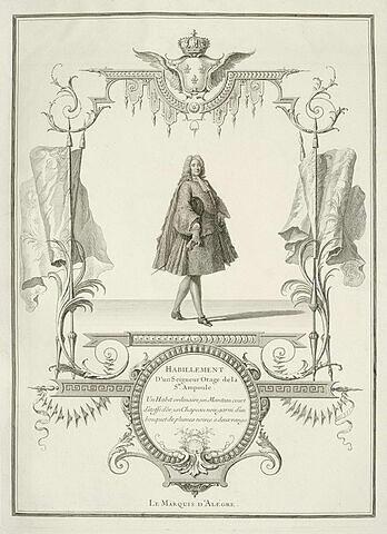 Habillement d'un Seigneur Otage de la Sainte Ampoule. Le Marquis d'Alégre.