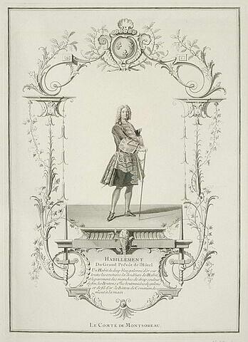 Habillement du grand prévôt de l'Hôtel. Le Comte de Montsoreau.