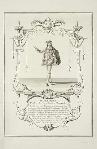 Habillement d'un chevalier porte-dais de la Sainte Ampoule