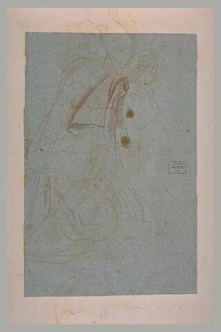 Religieux, à genoux, embrassant un crucifix