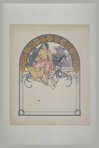 Jeune femme aux longs cheveux, assise à califourchon sur une poutre