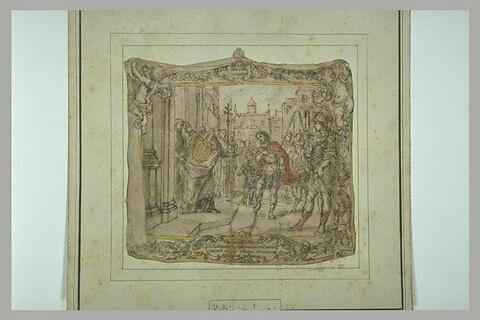 Saint Ambroise interdit l'entrée de l'église à l'empereur Théodose