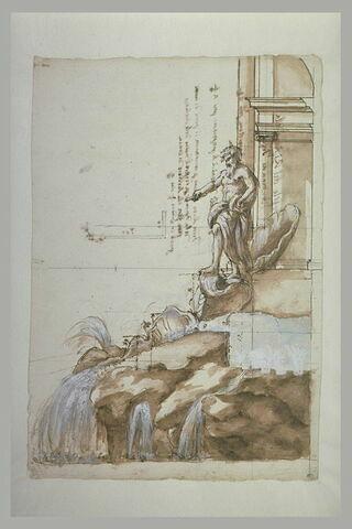 Section de la niche centrale de la fontaine de Trevi