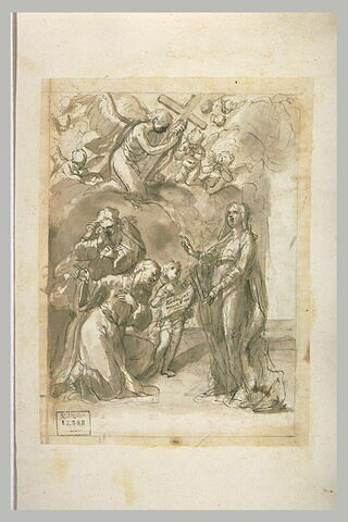 Le Christ s'agennouillant devant la Vierge