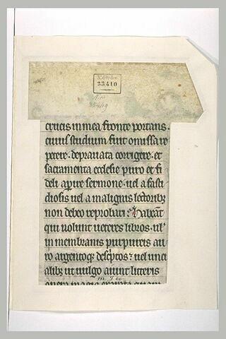 Texte manuscrit