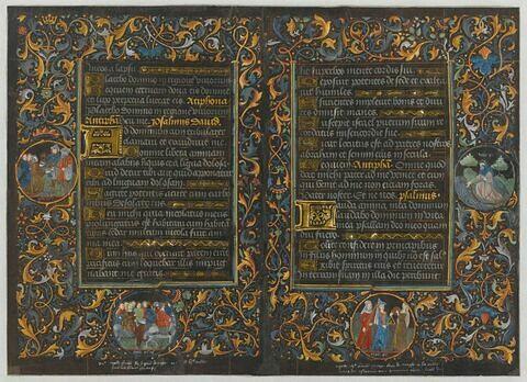 Bifeuillet du Livre d'heures noir de Charles le Téméraire
