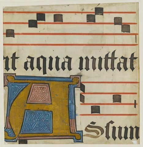Fragment de page d'antiphonaire