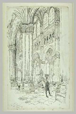 Reims, vue intérieure de la nef de la cathédrale