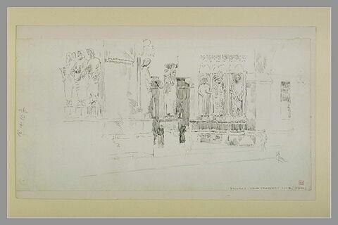 Reims, le portail central de la façade nord de la cathédrale