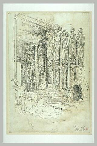 La cathédrale de Chartres : les statues des ebrasements de gauche