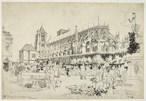 La cathédrale de Bourges vue des jardins de l'archevêché