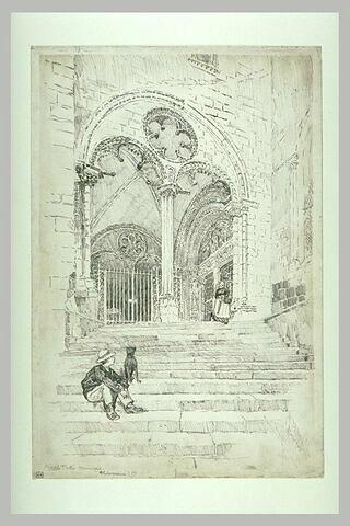 La cathédrale de Bourges : le porche nord