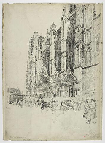 La cathédrale de Bourges : la façade occidentale