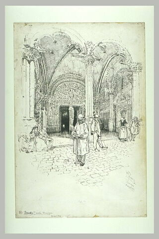 La cathédrale de Bourges : le porche sud