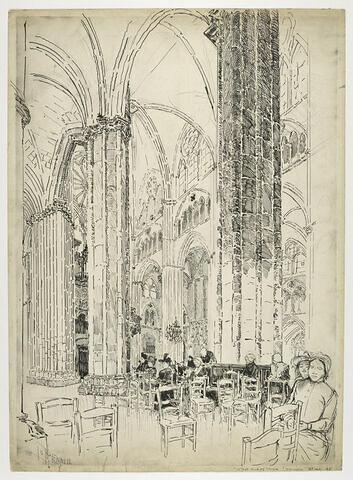 La cathédrale de Bourges : extrémité ouest de la nef