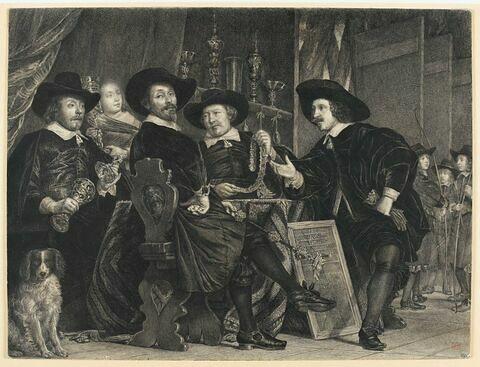 'Les cinq gouverneurs de la Garde Civile'