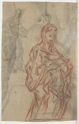 Vierge ; Vierge à l'Enfant ; torse d'homme