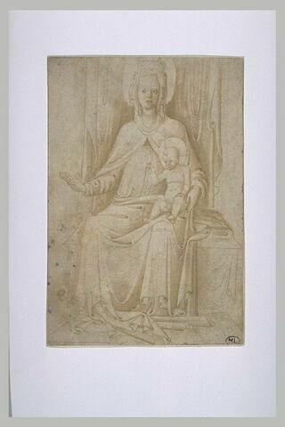 Vierge à l'Enfant, en trône