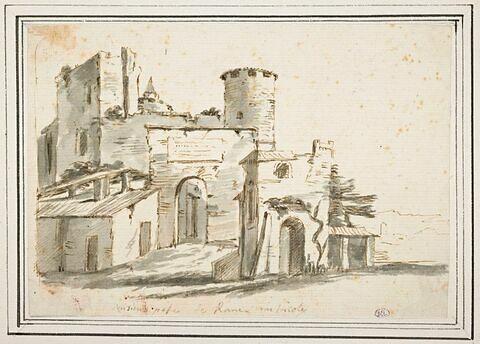 Porte fortifiée aux abords de Rome