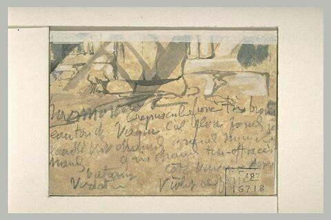 Esquisse et annotations manuscrites