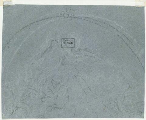 Esquisse pour une décoration dans un demi-cercle