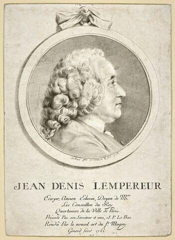 Portrait de Jean Denis Lempereur