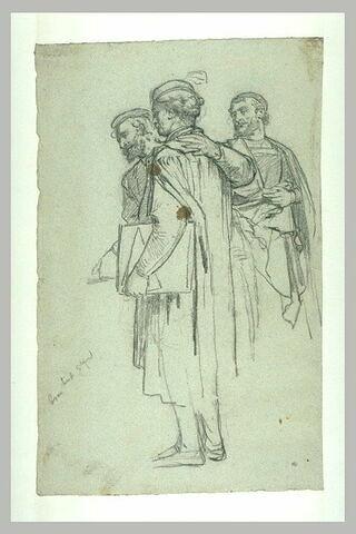 Etude pour le groupe de Jean Bullant, Pierre Lescot et Le Rosso