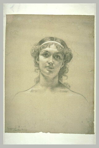 Tête de jeune femme de face : allégorie de l'imagination