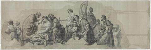Etude pour le plafond de la Salle des Etats du Louvre: la Charité secourable