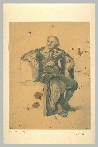 Homme assis, regardant vers la gauche : Van Dyck