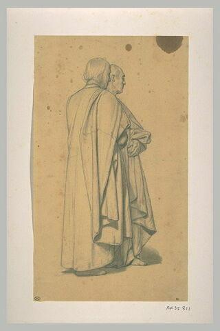 Deux hommes drapés debout
