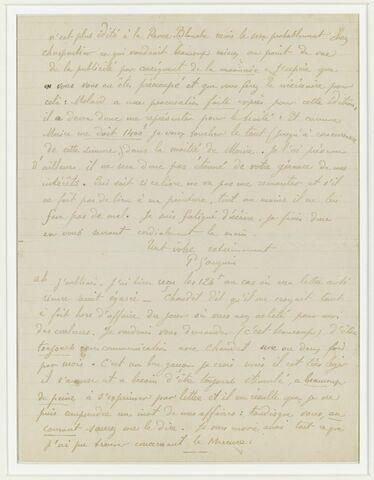 Février 1898, (Tahiti), à Daniel de Monfreid (deuxième feuillet)