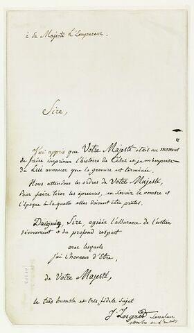Lettre manuscrite à Napoléon III