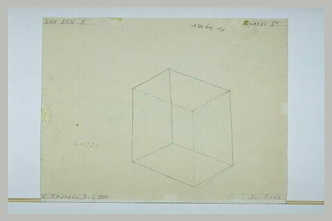 Parallélépipède rectangle, vu en perspective cavalière