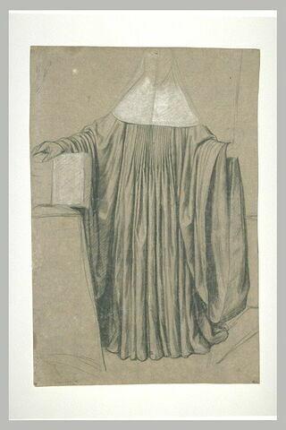 Etude de draperie pour le costume d'une abbesse