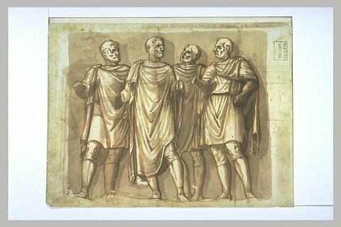 Etude d'après un groupe antique