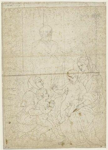 Sainte Famille avec sainte Elisabeth et saint Jean-Baptiste enfant