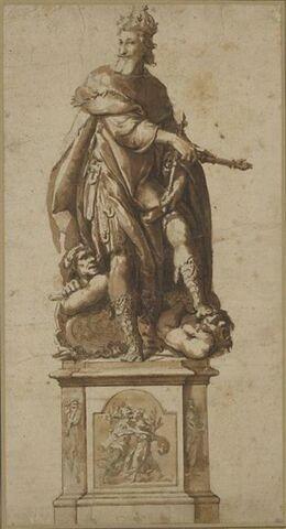 Projet pour la statue du roi Henri IV à Saint Jean de Latran