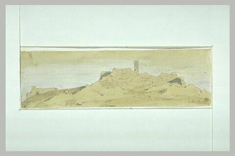 Souli, vue de maisons en ruines