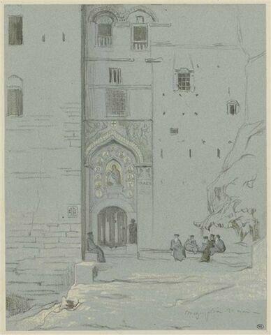 Entrée du couvent de Méga Spileo, dans le Péloponnèse