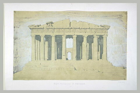 Athènes, façade ouest du Parthénon