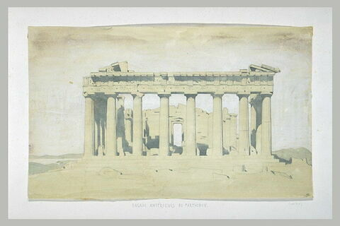 Athènes, façade est du Parthénon