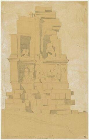 Athènes, monument de Philopappos