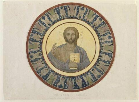 Mont Athos, La Grande Lavra, Christ Pantocrator de la coupole du Catholicon