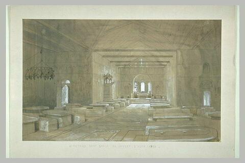 Mont Athos, le réfectoire saint Basile de la Grande Lavra