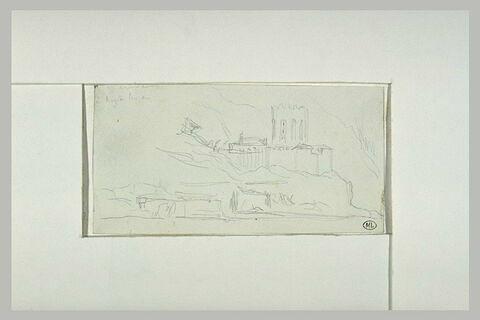 Mont Athos, l'arsenal et le couvent de la Grande Lavra
